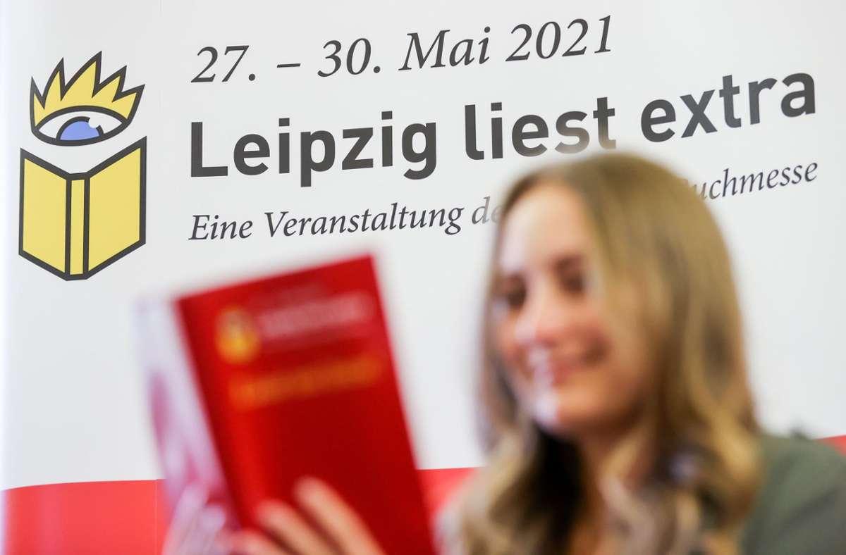 """""""Leipzig liest extra"""" hieß die diesjährige Sonderausgabe des Festivals """"Leipzig liest"""" Foto: dpa/Jan Woitas"""