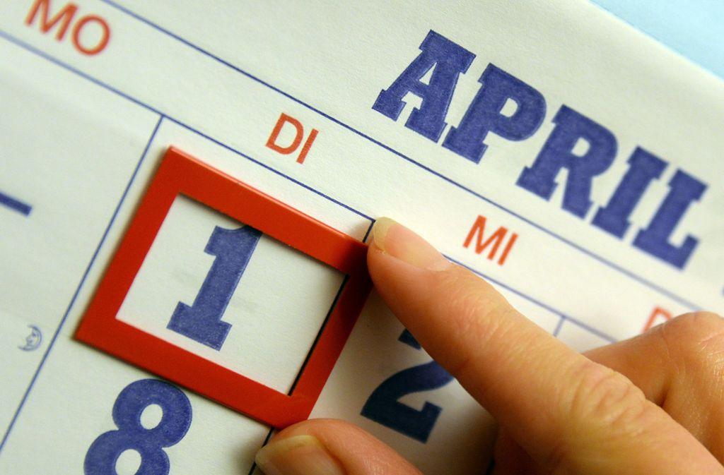 Am 1. April werden gerne unwahre Geschichten in die Welt gesetzt. Foto: dpa