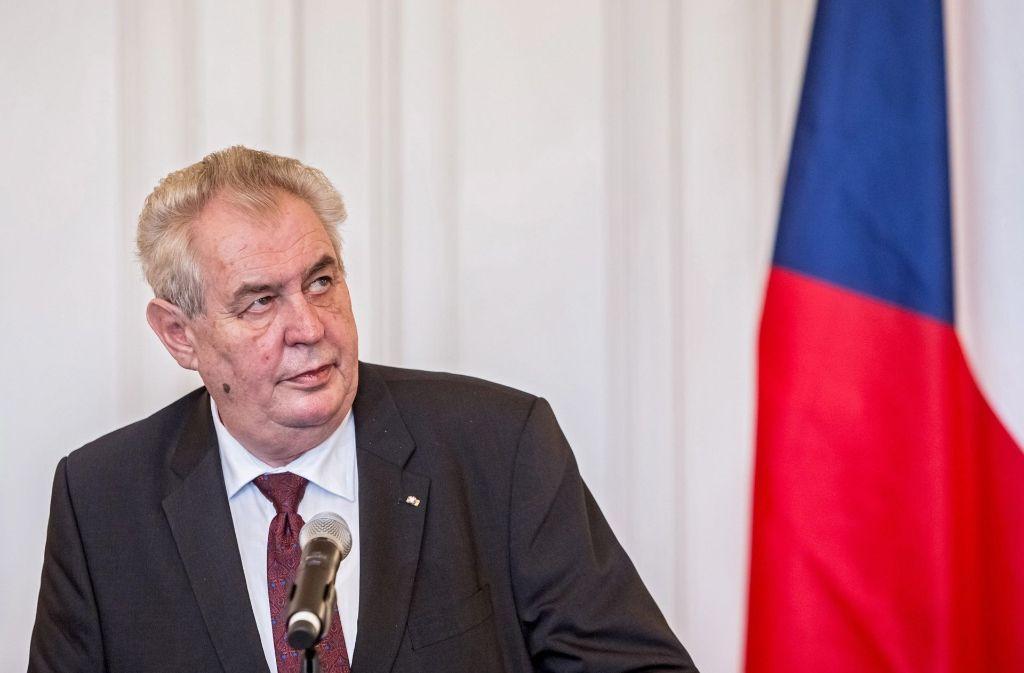 Tschechiens Präsident Zeman ist gegen das Fake-News-Abwehrzentrum. Foto: dpa
