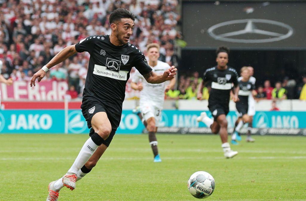 """Nicólas González ist gegen den FC St. Pauli """"Spieler des Spiels"""". Foto: Pressefoto Baumann"""