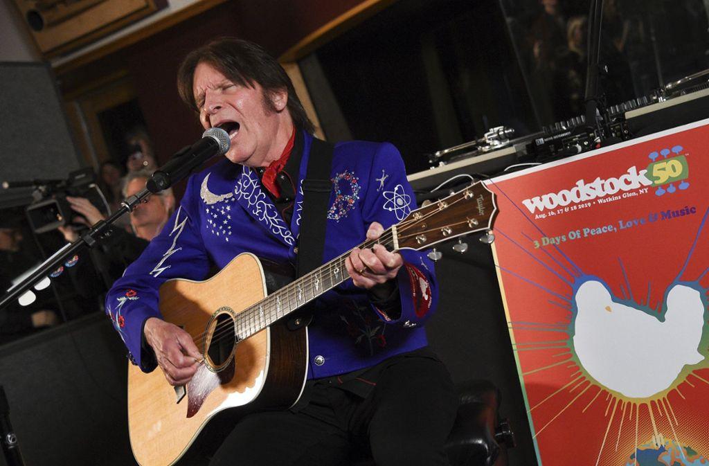 Veteran  John Fogerty ist einer von vielen, die  zum Woodstock-Jubiläum nicht singen. Foto: AP