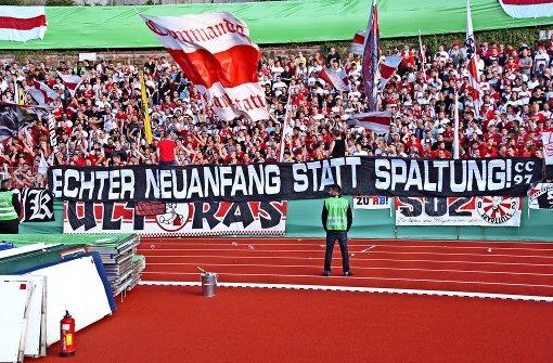 Die VfB-Stimmungskanonen sind geladen
