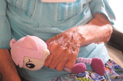 Demenz-Patientin in einem Pflegeheim. Foto: dpa