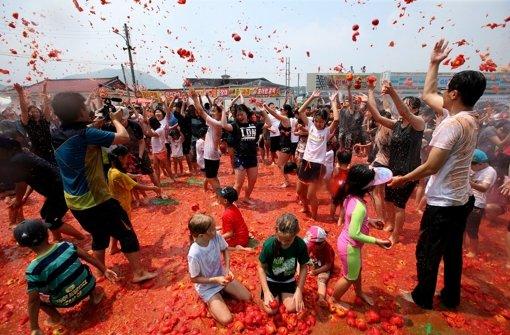 Tomaten-Schlacht in Südkorea