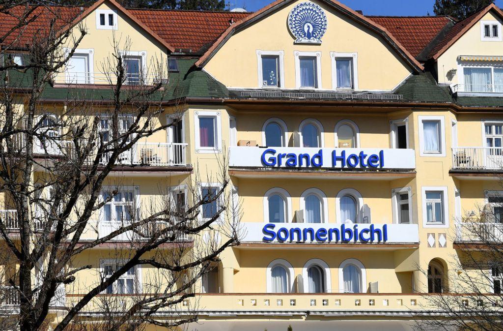 """Laut Website """"mit einzigartigem Blick auf die Zugspitze."""" Das Hotel Sonnenbichl in Garmisch-Partenkirchen Foto: dpa"""