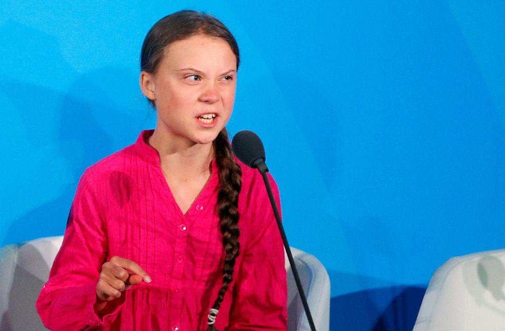 Greta Thunberg platzt beim Klimagipfel in New York der Kragen. Foto: dpa/Jason Decrow
