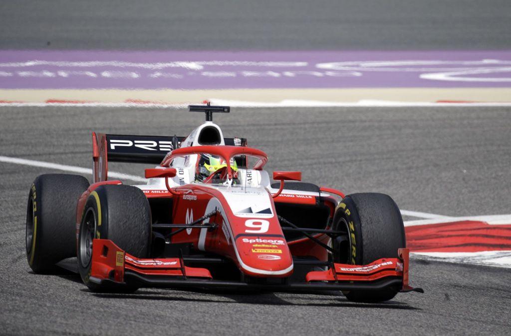 Mick Schumacher kam bei seiner Premiere in der Formel 2 auf Rang acht. Foto: AP