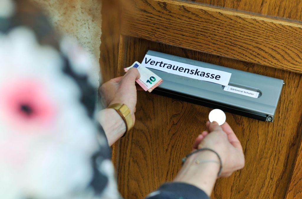 Die Vertrauenskasse der Gärtnerei Schuler darf wohl wieder öffnen. Foto: Lichtgut/Max Kovalenko
