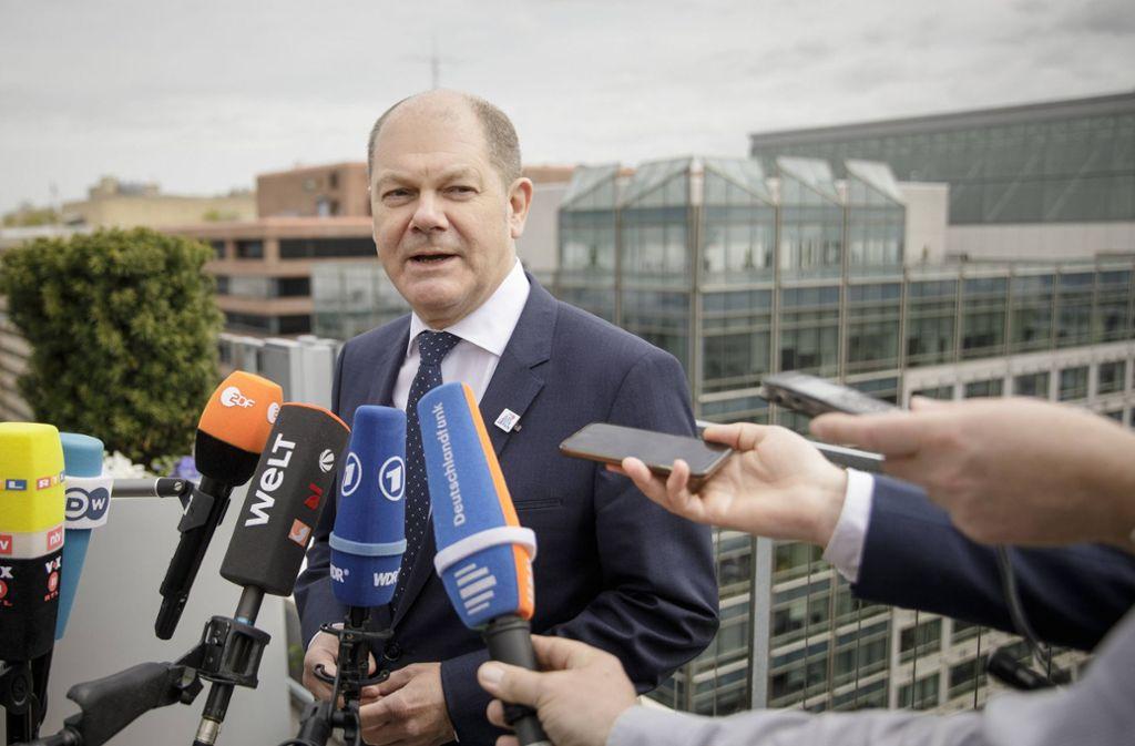 Finanzminister Olaf Scholz (SPD) galt als treibende Kraft hinter den Gesprächen zur Bildung eines nationalen Banken-Champions. Öffentlich hielt er sich mit Ratschlägen zurück. Foto: www.imago-images.de