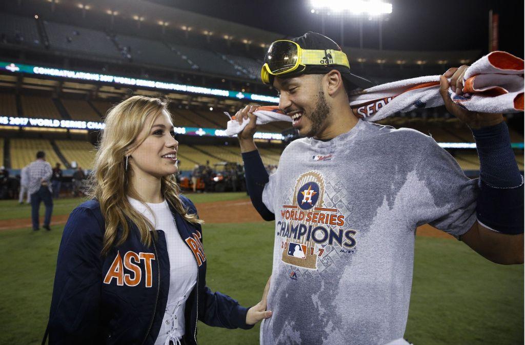 Carlos Correa hat seiner Freundin Daniella Rodriguez einen Antrag gemacht. Foto: AP