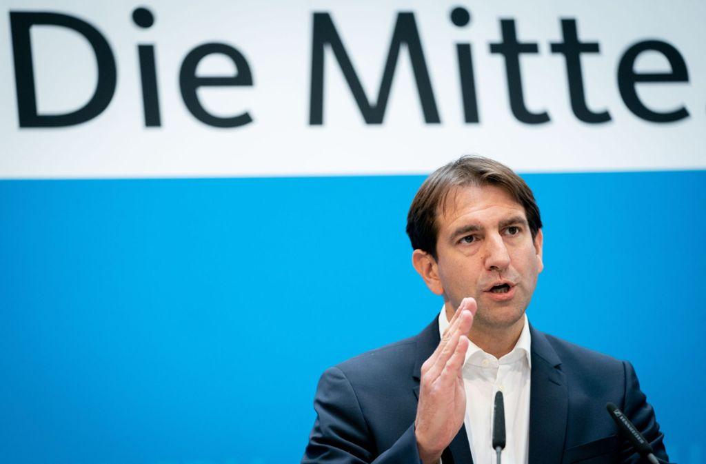Andreas Jung hofft auf eine Belebung der Konjunktur. Foto: Kay Nietfeld/dpa/Kay Nietfeld