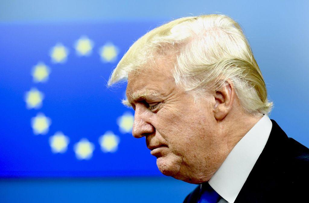 Trumps Kritik  am  Handelsüberschuss der Europäer ist statistisch nicht gerechtfertigt Foto: AFP
