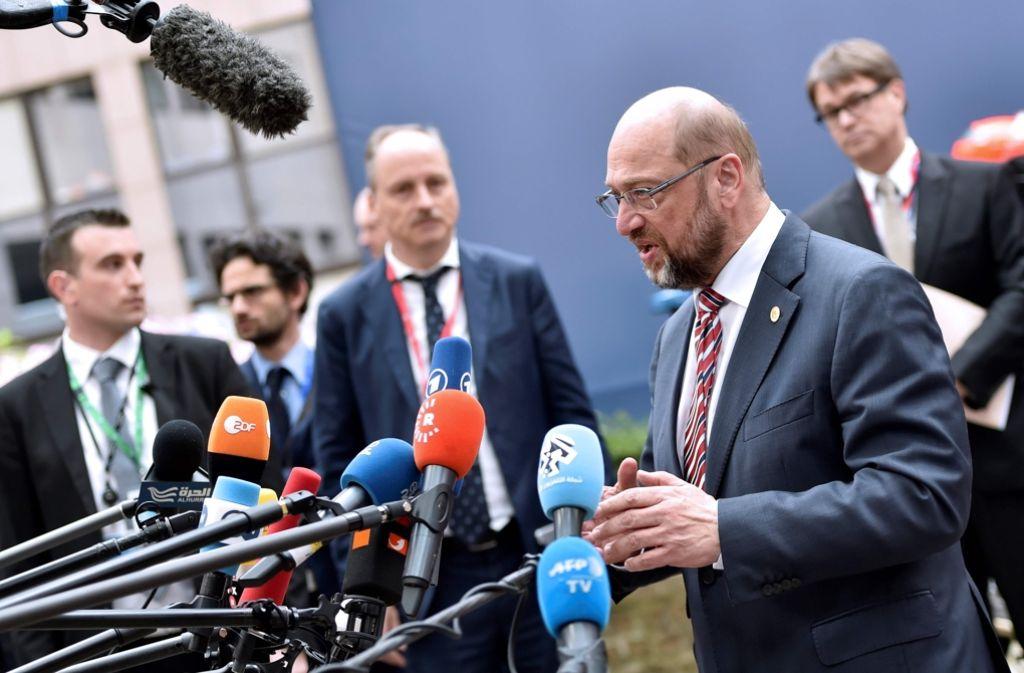 Seit 2012 an der Spitze des Europa-Parlamentes: Der SPD-Politiker Martin Schulz aus Aachen Foto: AFP