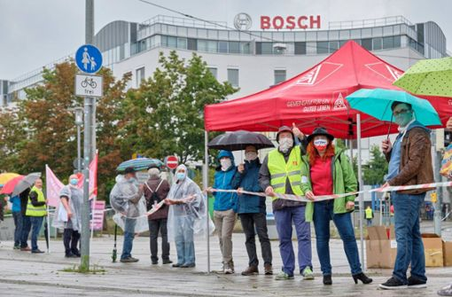 Bosch-Beschäftigte kämpfen    für  den Erhalt von Jobs