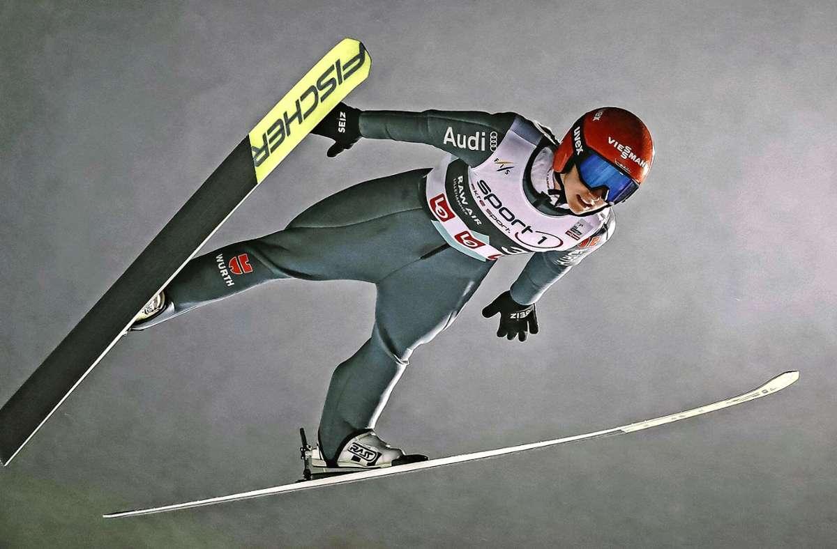 Auf dem Sprung zur WM vor der eigenen Haustüre: Skispringerin Katharina Althaus. Foto: imago/Eibner
