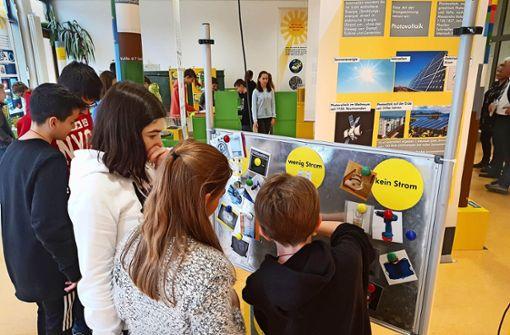 Im Parcours  lernen Schüler Energie schätzen