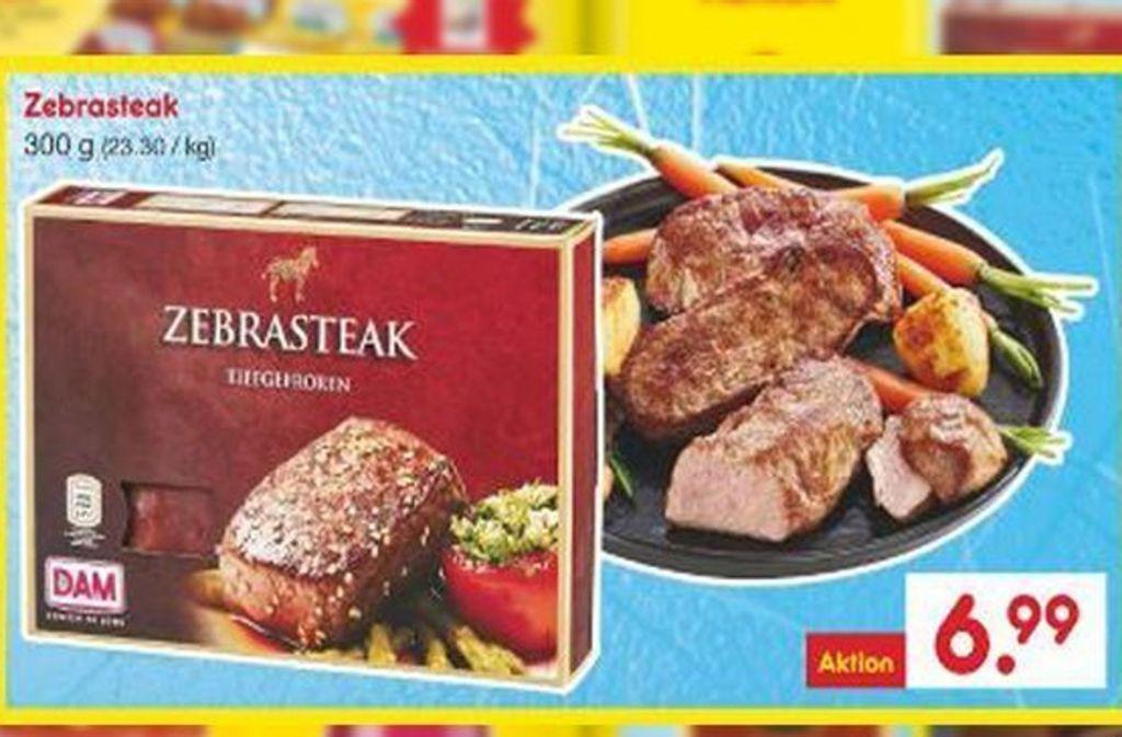 Der Discounter Netto hat zur Weihnachtszeit Zebrafleisch ins sein Sortiment aufgenommen. Foto: netto-online.de