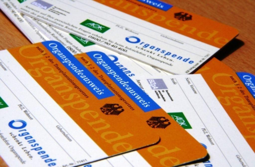 Die Zahl der Organspender ist 2013 bundesweit auf 876 gesunken. Foto: dpa
