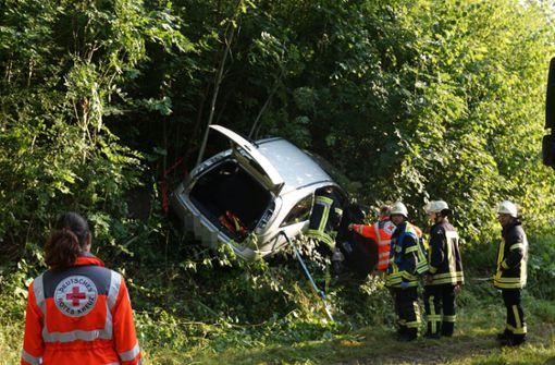 Schwerer Unfall in Waldstück