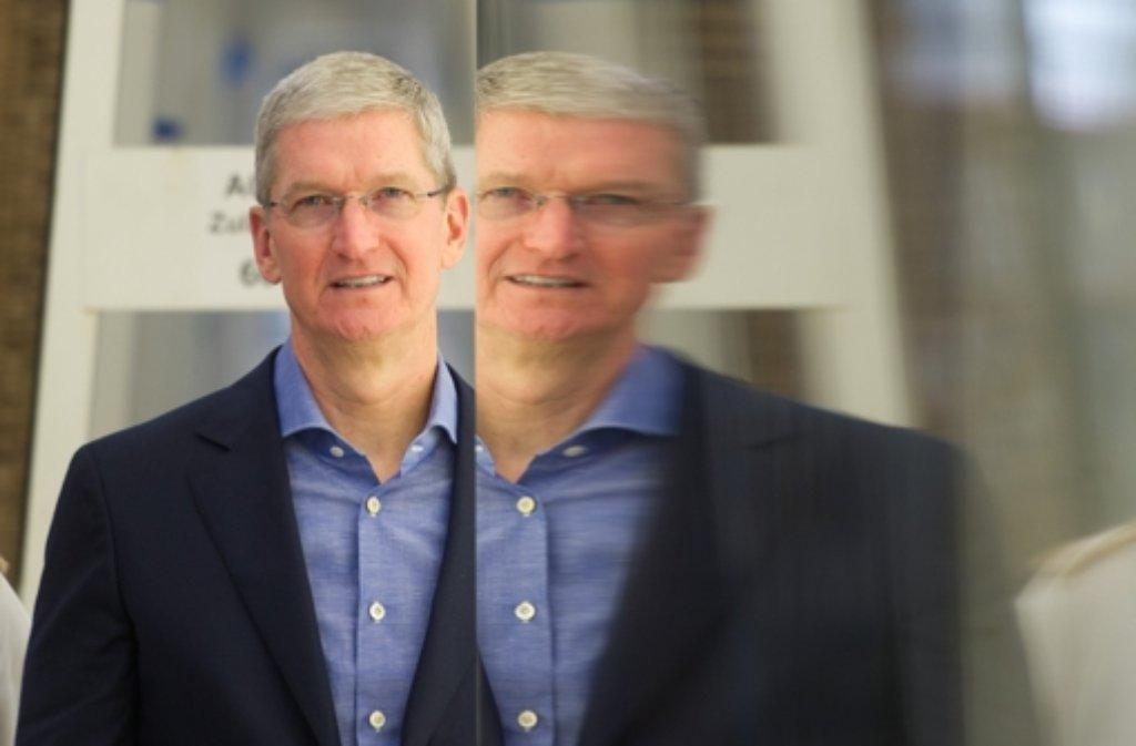 Apple-Chef Tim Cook hat vor, sein Vermögen für wohltätige Zwecke zu spenden. Foto: dpa