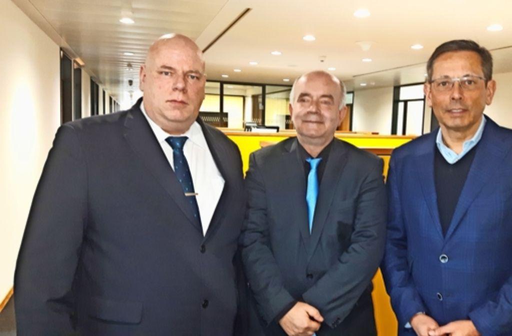 Michael Spreng, Detlev Zander beim Missbrauchsbeauftragten der Bundesregierung, Johannes-Wilhelm Rörig (von links) in Berlin Foto: privat