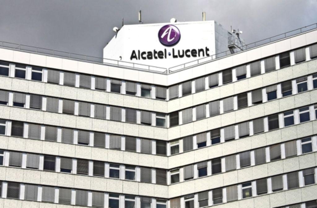 Die Firma Alcatel-Lucent selbst bleibt an der Lorenzstraße 10 ansässig. Foto: Bernd Zeyer