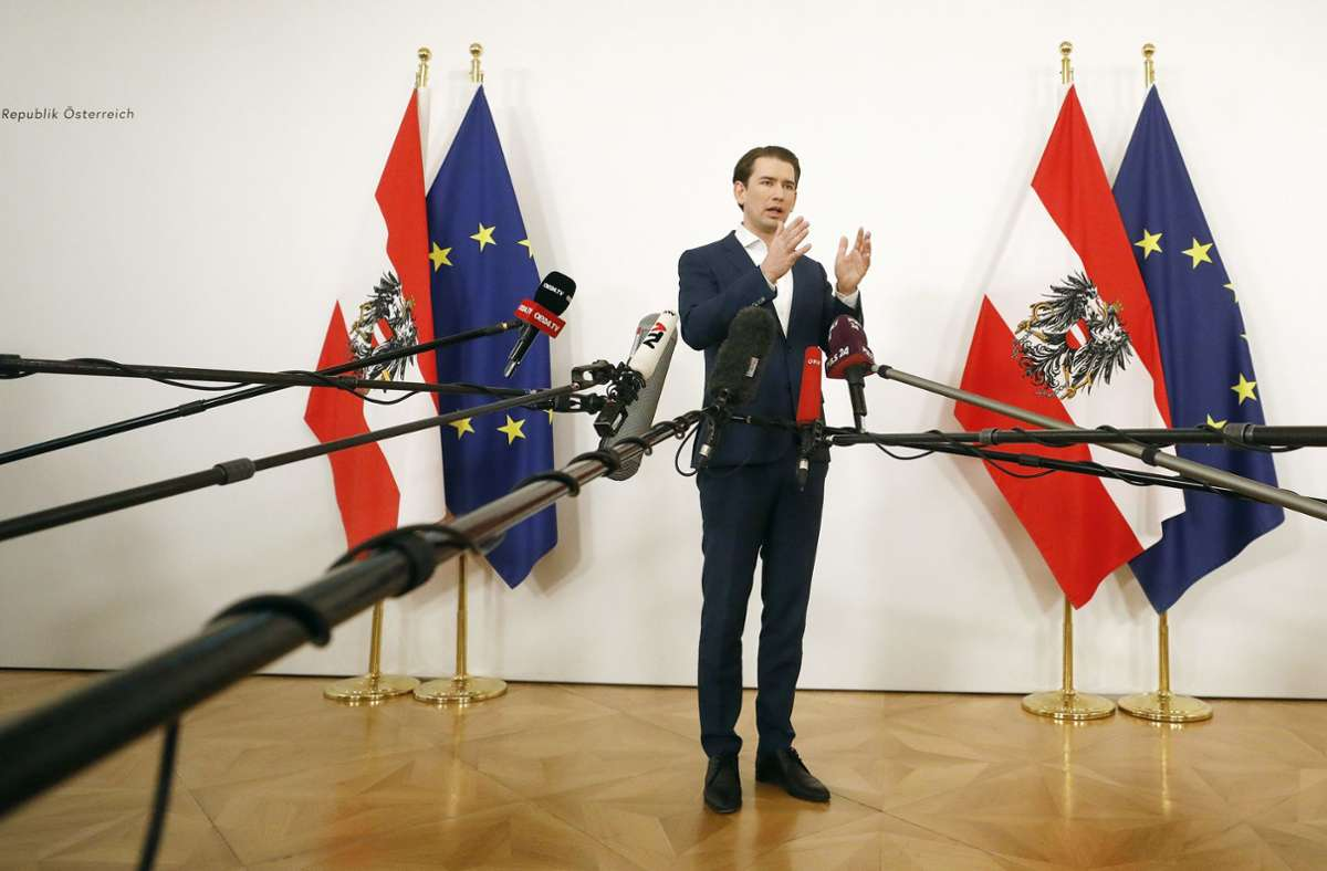 Österreichs Bundeskanzler Sebastian Kurz rief die Bürger auf, sich an den bevorstehenden Massentests zu beteiligen. Foto: dpa/Dragan Tatic