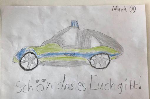 Achtjähriger überrascht Polizei mit selbstgemaltem Bild