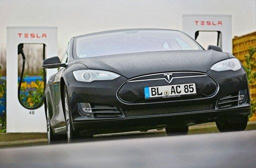 Auch auf dem Autohof bei Bad Rappenau können Tesla-Fahrer Foto: Getty
