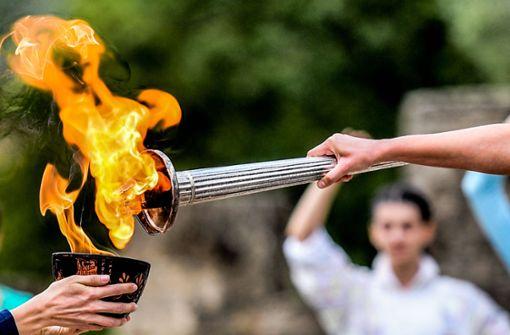 Feuer für Peking-Spiele ist entzündet