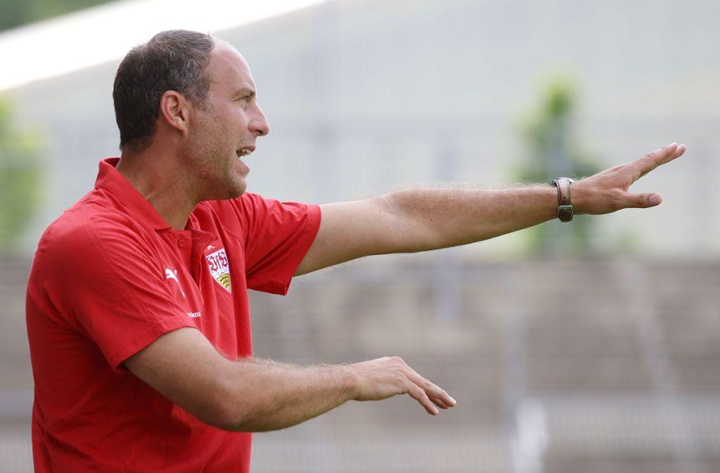 Marc Kienle, Trainer des VfB Stuttgart II, trifft auf den 1. FC Saarbrücken. Foto: Pressefoto Baumann
