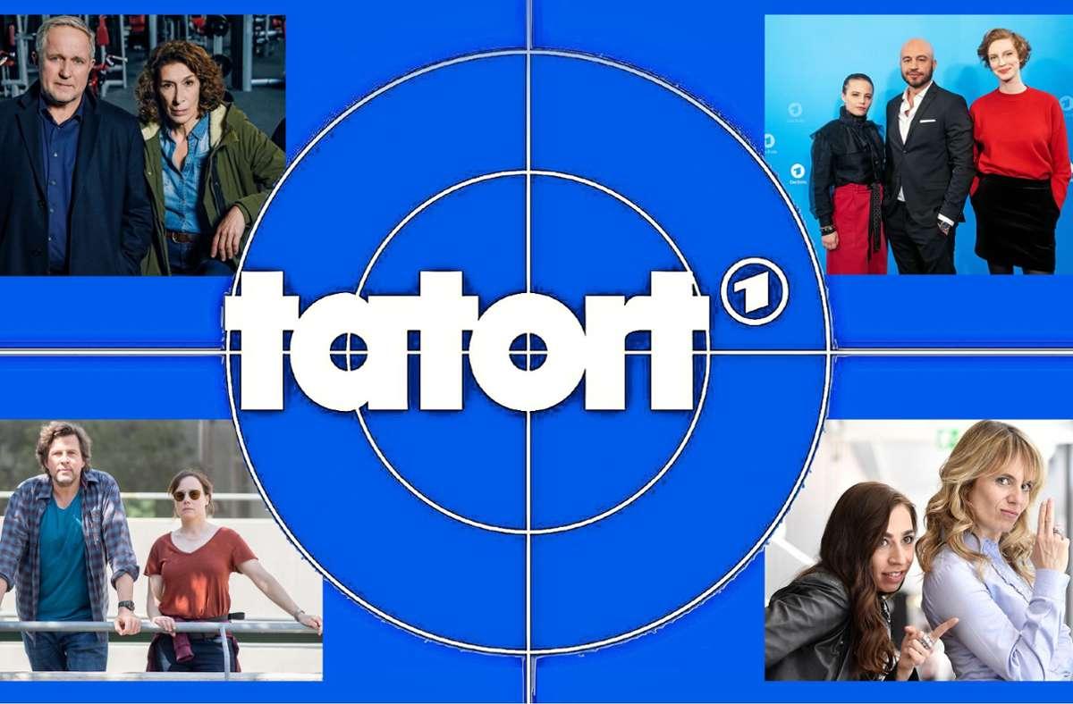 """Es gibt viele vertraute und ein paar neue Gesichter beim """"Tatort"""" – und sicher wieder sehr unterschiedliche Ansichten zu jeder Folge.Foto:ARD/Montage Foto:"""