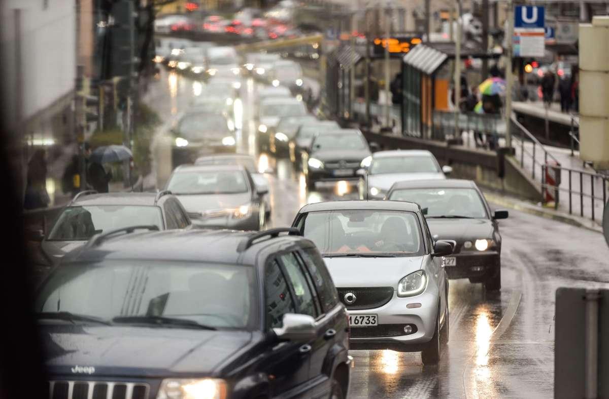 Angespannte Verkehrssituation zwischen Innenstadt  und Degerloch Foto: Lg/Kovalenko