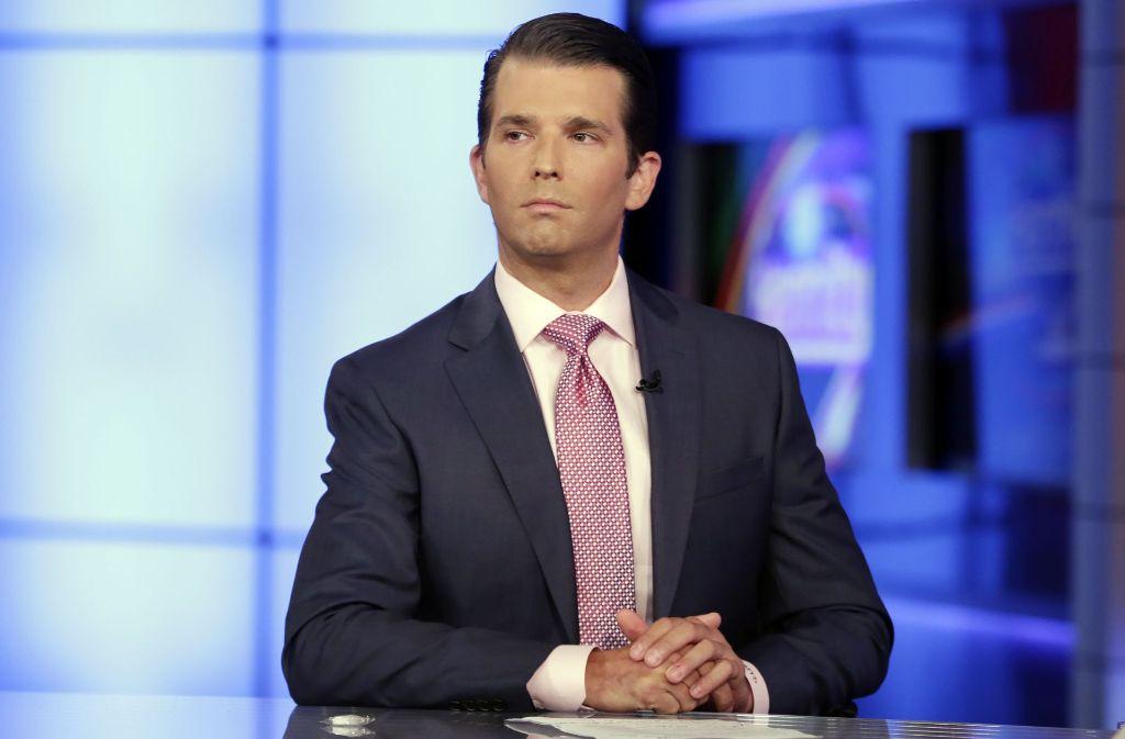 Donald Trump Jr. verteidigt sein Treffen mit einer russischen Anwältin. Foto: AP