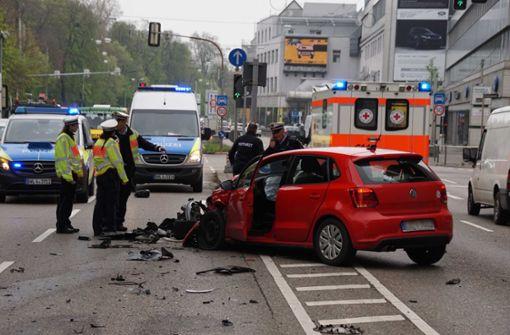 Kilometerlanger Stau nach Unfall am Neckartor