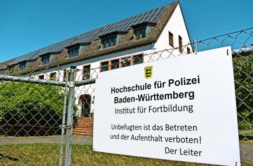 Flüchtlinge kommen in die  Polizeiakademie