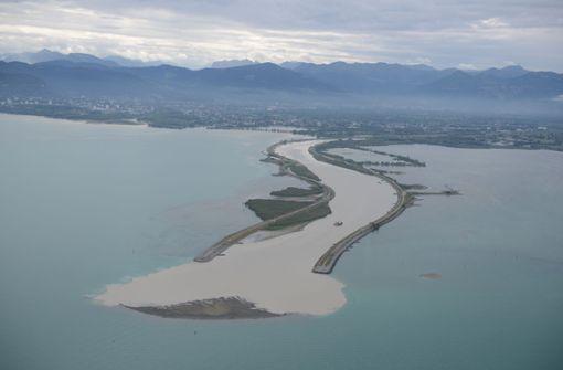 Neue Insel im Bodensee entstanden