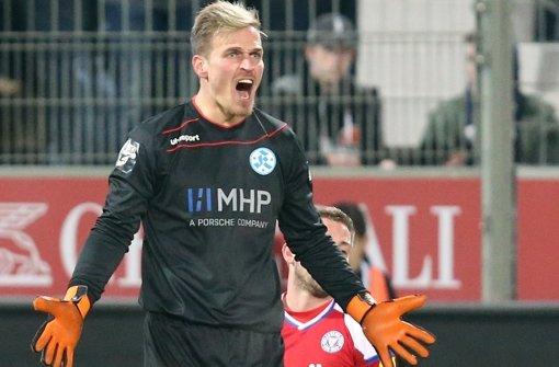 Rouven Sattelmaier kam vor der  Saison  vom Zweitligisten 1. FC Heidenheim zu den Kickers. Foto: Baumann