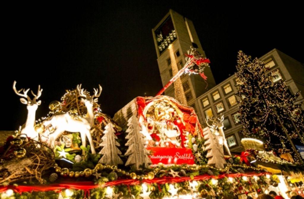 Der Stuttgarter Weihnachtsmarkt gehört mittlerweile zu den größten Deutschlands. Foto: Lichtgut/Leif Piechowski