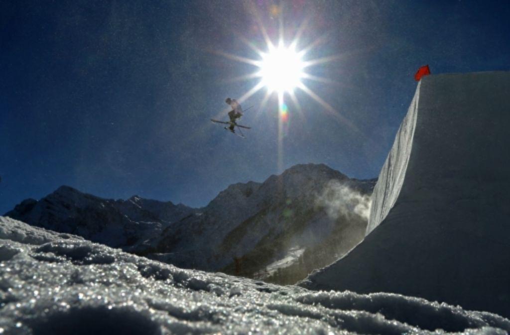 Die olympische Slopestyle-Strecke in den Bergen von Krasnaja Poljana bei Sotschi ist nicht ohne. Foto: Getty Images Europe