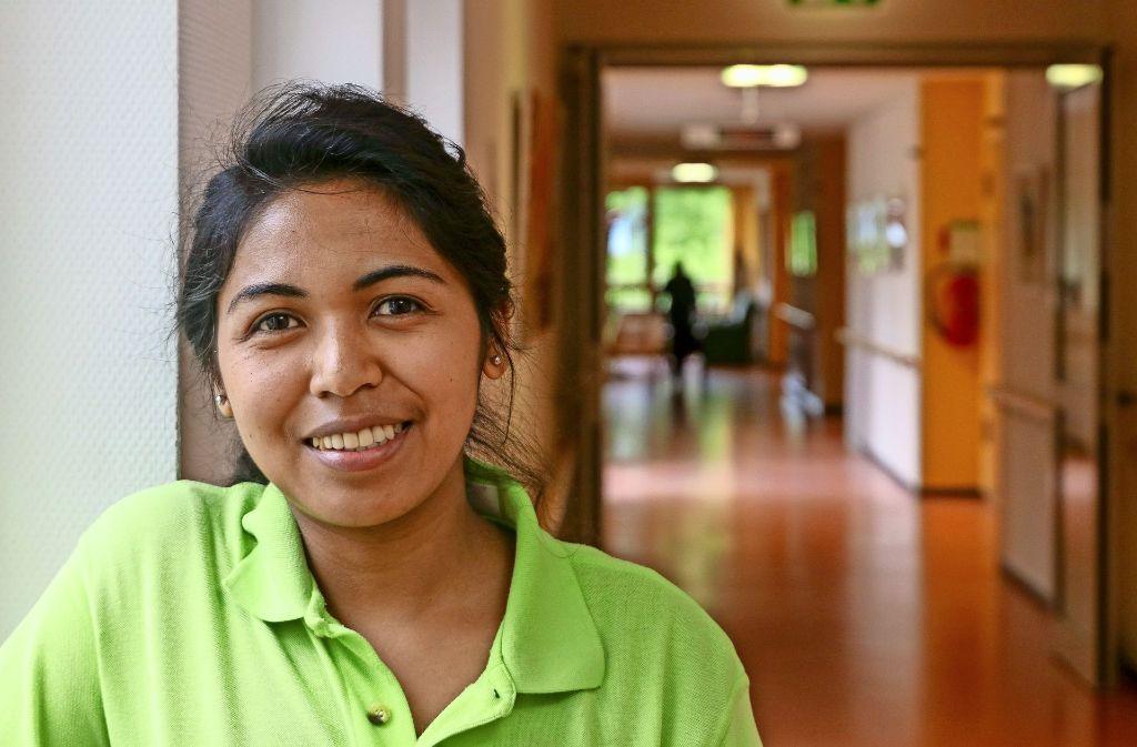 Fühlt sich sehr wohl im Schwabenland: die 25-jährige Giovannah Rahantaniaina macht ein FSJ in Flacht. Foto: factum/Granville