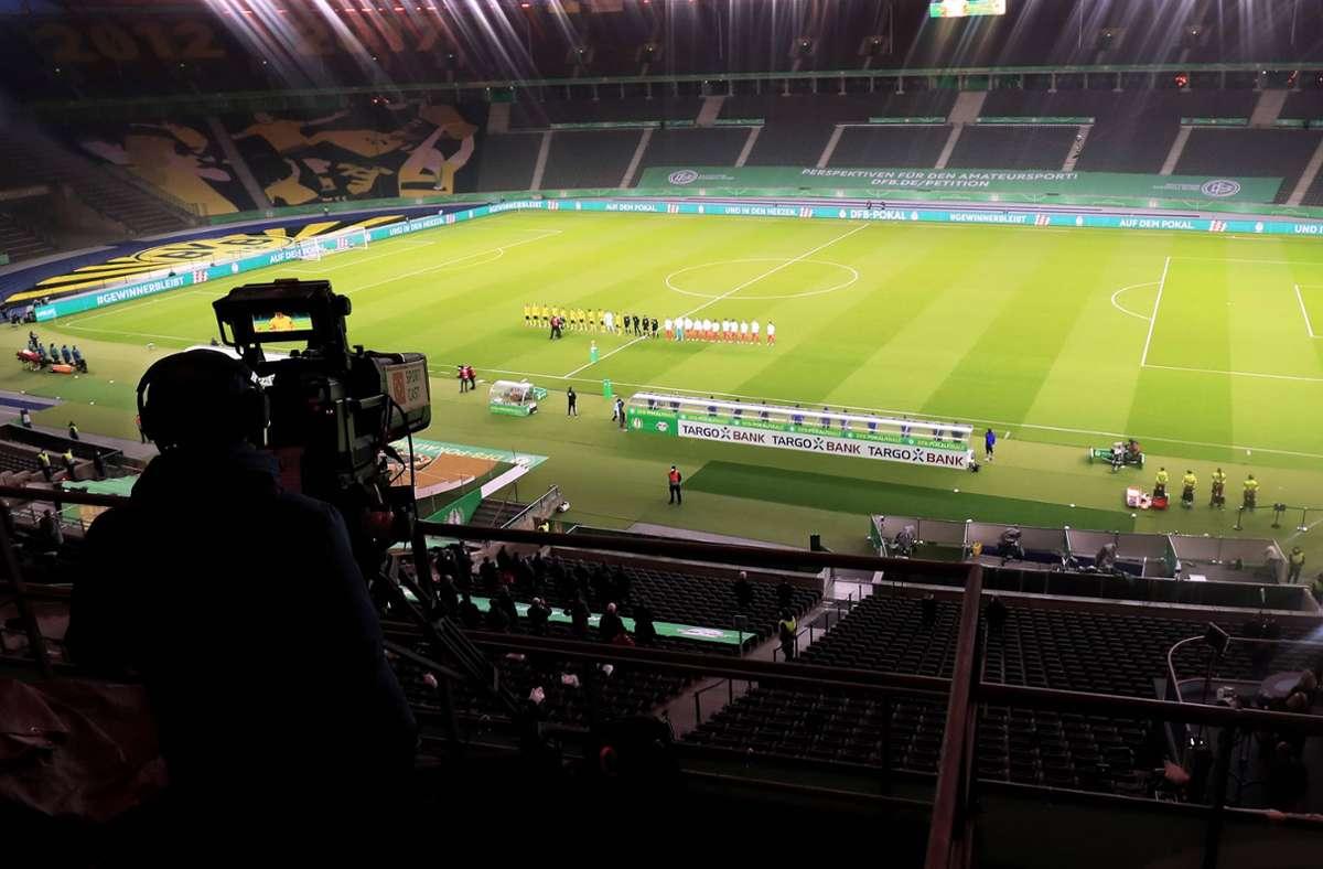 ARD und ZDFsicherten sich 15 Spiele des nationalen Cup-Wettbewerbs von der Saison 2022/23 bis 2025/26 (Symbolbild). Foto: imago images/Laci Perenyi