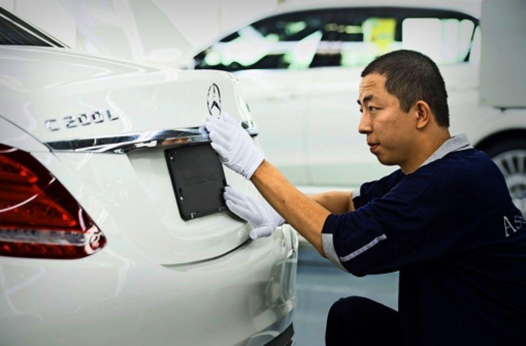 """In Peking wird auch die C-Klasse mit verlängertem Radstand produziert. Sie trägt ein """"L""""  in der Typenbezeichnung. Foto: Daimler"""