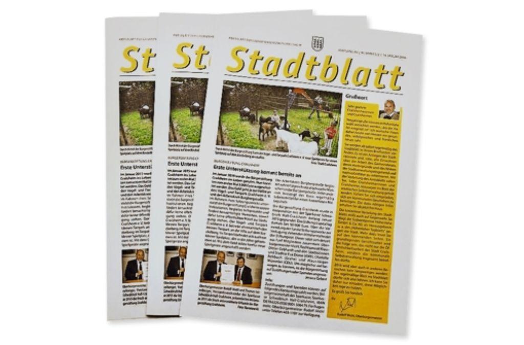 Sein Konterfei auf der Titelseite – so mag es  der Oberbürgermeister. Foto: Stadt Crailsheim
