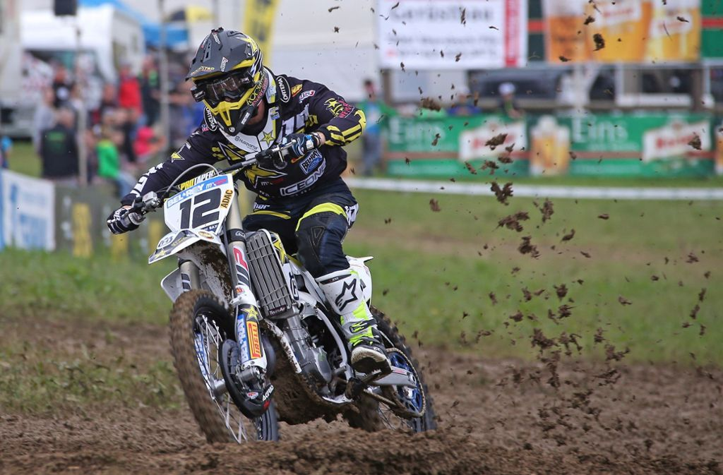 Matschig wird es auch in diesem Jahr beim Motocross in Aichwald. Foto: Baumann