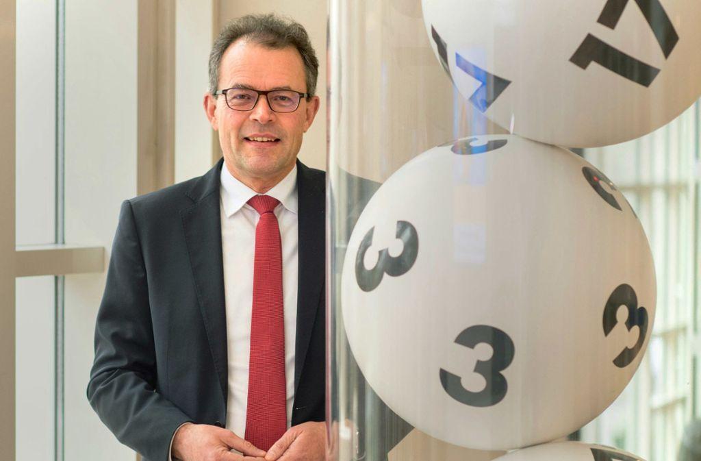 Lotto-Chef in Baden-Württemberg: Georg Wacker. Foto: dpa/Marijan Murat