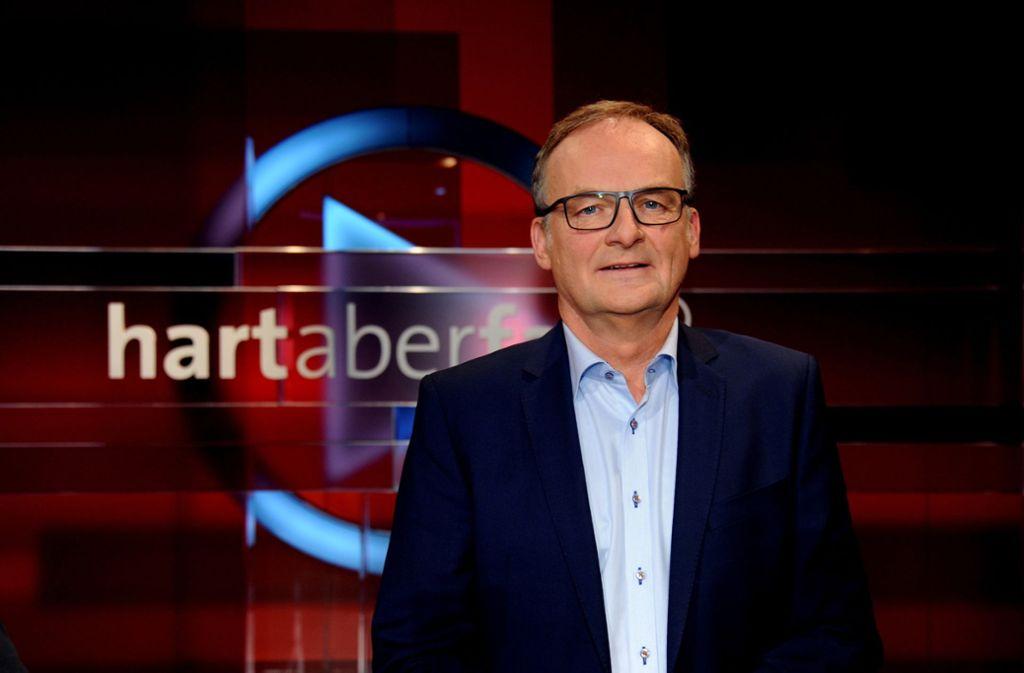 """Seit 2007 moderiert Frank Plasberg die Polittalkshow """"hart aber fair"""" im Ersten. Foto: dpa"""
