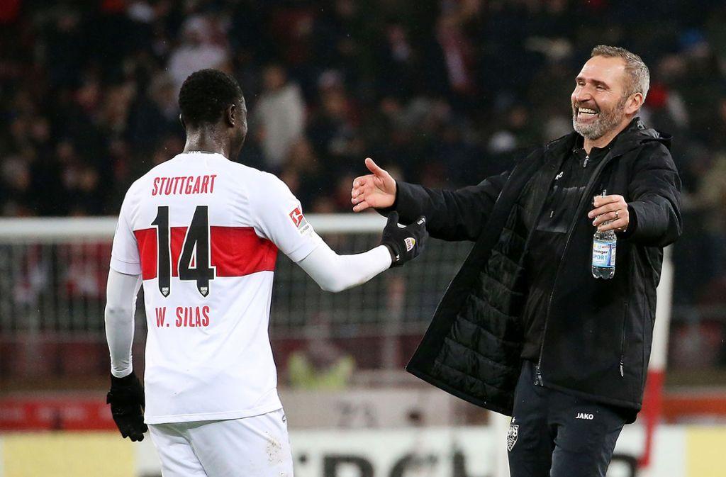 Beim VfB Stuttgart erfreut Silas Wamagituka nicht nur Trainer Tim Walter. Foto: Baumann