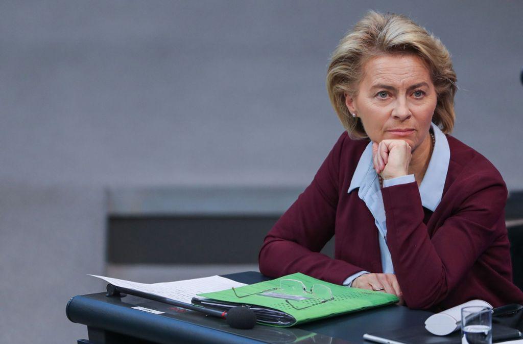 Jetzt gerät auch Ursula von der Leyen ins Visier der Staatsanwaltschaft. Foto: dpa-Zentralbild