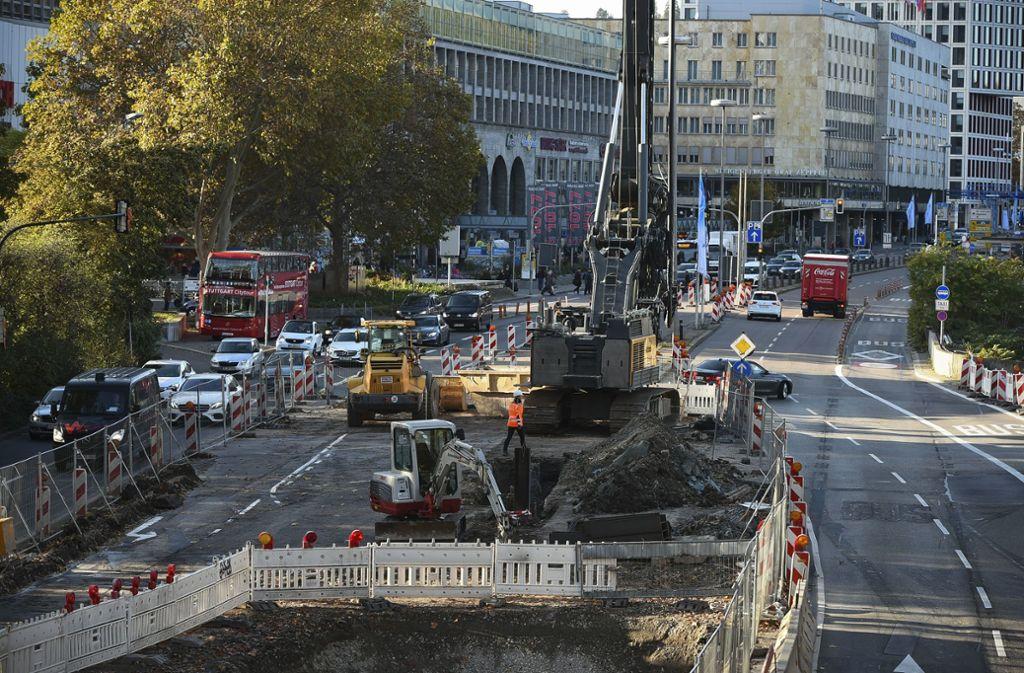 Baustellen gehören in Stuttgart zum Stadtbild. Foto: Lichtgut/Leif Piechowski